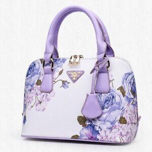 Finon Miland Purse Shoulder Bag Handbag Flower Print Cross Body Satchel