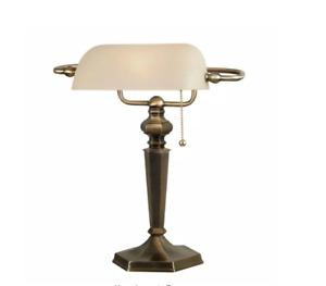 Mackinley 15 in. Georgetown Bronze Banker Lamp by Kenroy Home