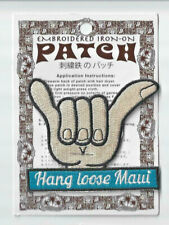 The State of Maui Hawaii Souvenir Hang Loose Patch