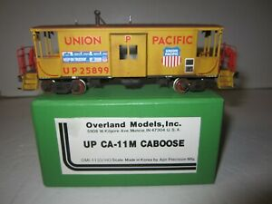 UP Union Pacific Caboose Custom Paint and Weathered CA-11 HO Scale Overland Ajin