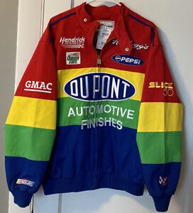 New Vintage Jeff Gordan NASCAR Jacket Coat DuPont Hendrick Motorsports Med NWT