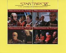 Chad Star Trek Stamps 2020 CTO Undiscovered Country Spock Kirk Movies 4v M/S