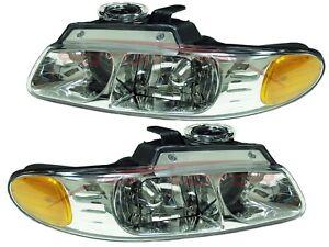 For 96-99 Chrysler Town & Country Dodge Caravan Head Lights Pair LH+RH