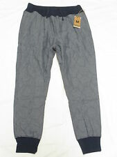 $84 NWT Mens Unyforme Striker Chambray Jogger Pants Sweatpants Urban Size S N109