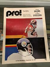 9/3 1973 PITTSBURGH STEELERS VS. HOUSTON OILERS GAME PROGRAM JOE GREENE