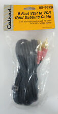 Calrad 6 Foot Gold Plated VCR to VCR Video Dubbing Cable 75 ohm NEW~!!