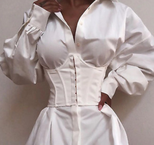 Ultra Super Wide Belt Elastic Corset Belt For Women White Ladies Waist Belts