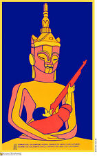 Political cuban POSTER.LAO.Laos war.ASIA.Asian God as29.Revolution Art Design