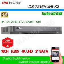Hikvision DS-7216HUHI-K2 4K Hybrid DVR XVR 16CH For TVI AHD CVI CVBS IP Cam OEM