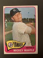 1965 Topps #350 Mickey Mantle EX *Nice See Photos Yankees HOF