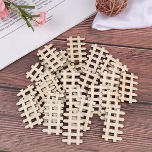 25PCs Laser Cut Wooden Fence Embellishment Wooden Shape Craft Wedding Decor_UK