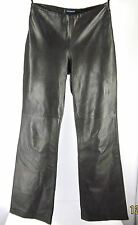Sexy Ann Taylor Brown Leather Pants Flat Front Lined Size 2 (27x30) Buttery Soft