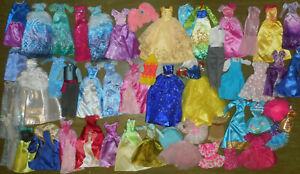 LOT Barbie Doll GOWN Ken Suit CHRISTMAS Party Clothes Disney Princess Dress
