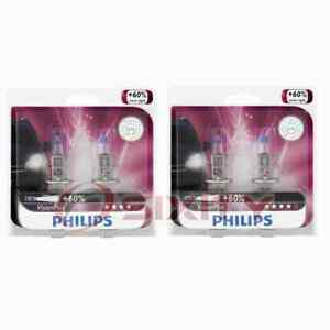 2 pc Philips High Beam Headlight Bulbs for Kia Borrego Forte Forte Koup mo