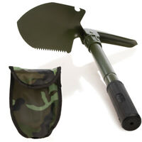 Foldable Camping Shovel With Camo Carrying Case Multifunctional Tools Survival
