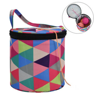 Colorful Woolen Yarn Storage Bag Knitting Crochet Ball Holder Tote Organiz EH^JY