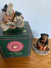 Boyds Bears Halloween- Agatha & Shelly/ and Boo Bear in a cat suit