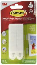 Command Art Gallery Photo Picture 16lb Wall Hanging Strip Hanger Holder White
