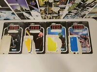 Rare VINTAGE STAR WARS 1983 CARDBACK ONLY  * LOT OF 4 *