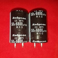 2 x 6800uF 6800mfd 50V Electrolytic Capacitor 105 degrees & USA FREE SHIPPING!