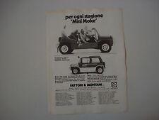 advertising Pubblicità 1982 LEYLAND MINI MOKE CALIFORNIAN