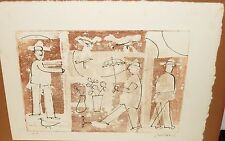 ROBERT WEIL UMBRELLA MAN LIMITED EDITION SIGNED ARTIST PROOF COLOR ETCHING