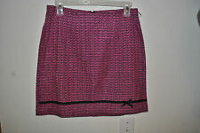Very Cute Juniors CITY TRIANGLES Pink and Black Mini Skirt Size 5 NWOT