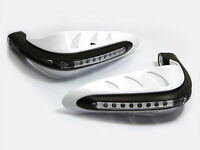 WHITE Motorbike Handguards With LED DRL Lights for Yamaha FZ6N FZ8 FZ1 XJ6 XJ6N