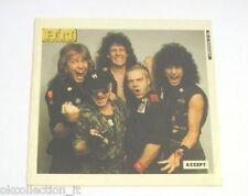 ADESIVO anni '80 vintage / Old Sticker ACCEPT (cm 11 x 11) gruppo Heavy Metal