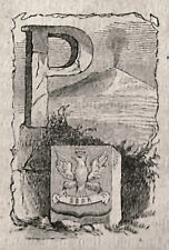 1871:PALERMO, MINIATURA STEMMA ARALDICO CITTA da Cento Citta, Ariodante Manfredi