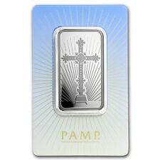 Pamp Suisse 1 once Barres Argent 999 Argent Croix - Motif de croix sous Blister