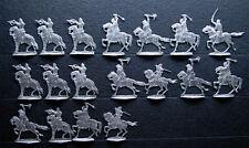18 x Zinnfiguren Reiterei Ritter Polen Russen Litauer 30 mm unbemalt Z19-180