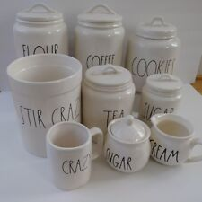 Rae Dunn Canister Set/lot (COOKIE, COFFEE, FLOUR, SUGAR,TEA and MORE!!!NWT