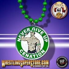 "WWE John Cena ""Cenation"" Never Give Up Circle Pendant (Green Beads)"