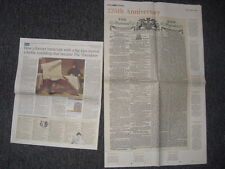 Times newspaper 225th Anniversary souvenir edition 1.1.1785 issued 1.1.2010