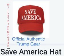 Official Authentic Trump Campaign Save America Hat Red Trump 2024
