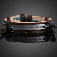 Motivational Plate Girl Boy Braid Bracelet String Band Bangle