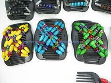 20pcs Double Magic Hair Combs Butterfly Clips Multi-color Beads Wholesale lot