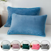 1x Winter Velvet Pillow Case Cushion Cover Bedding Pillow Cover Soft 48x74cm