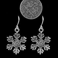 Earrings Snowflake Blizzard Frosty Christmas Winter Snowman Pretty Dangle #340-B