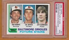 Cal Ripken Jr. Orioles HOF 1982 Topps Baseball #21 Rookie Card rC PSA 9 QUANTITY
