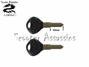 2 x KEY BLANKS for KYMCO SCOOTERS  LEFT HANDED