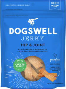 Dogswell Hip & Joint CHICKEN JERKY Dog Treats GRAIN FREE 12 oz Bag