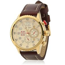 CURREN 8179 Quartz Brown Strap/ Goldcase  Leather Wrist Watch for Men