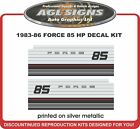 1983 1984 1985 1986  CHRYSLER FORCE 85 hp Reproduction Outboard Decal Set