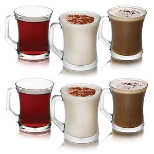 6x LAV ZEN+ Teegläser mit Henkel Cappucino Kaffee Henkelglas 225ml Tassen ZPL404