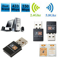 WLAN Stick AC 600Mbps WIFI Dongle USB Wireless Adapter Dual Band 2.4GHz / 5GHz