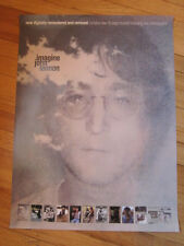 JOHN LENNON Imagine Remastered Remixed promo poster 2000 18x24 ex Beatles