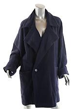 PLANTATION by Issey Miyake Heavy Vintage Navy Wool Blend Sweater Coat Sz M