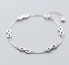 Unendlich 925 Sterling Silber Damen Armband Armreif Armkette Schmuck  infinity 432f63fbae